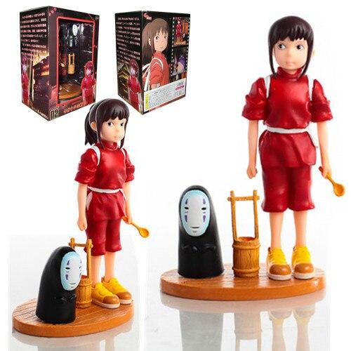 100% Original Hayao Miyazaki Studio Ghibli A Viagem de Chihiro Sem Rosto Homem De Vidro Dos Desenhos Animados Anime Figura Modelo para Presente de aniversário