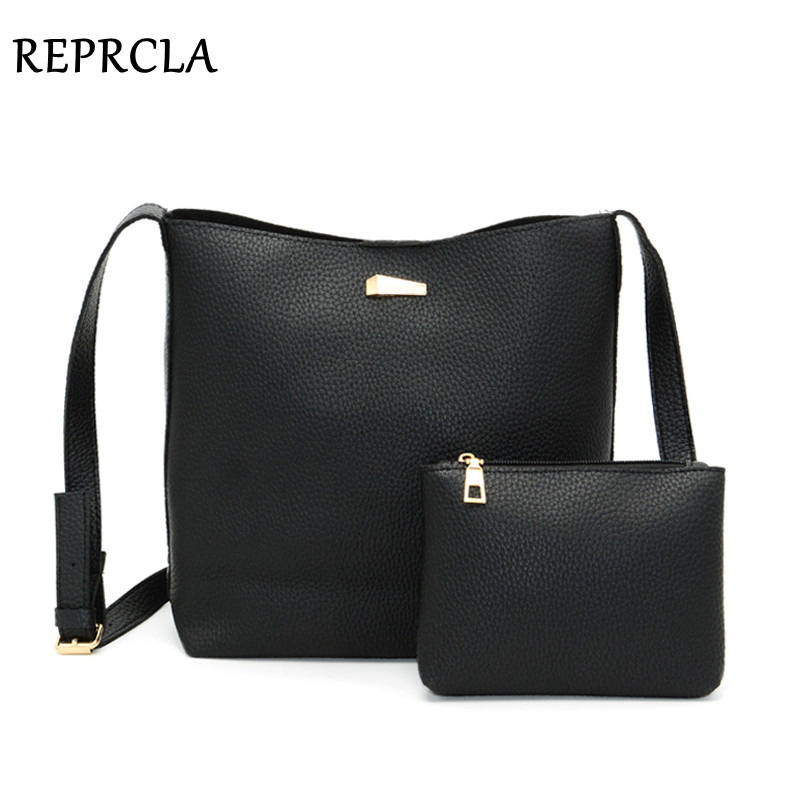 REPRCLA New Soft Pu Leather Shoulder Bag Large Capacity Women Messenger Bags Crossbody High Quality Handbags with Purse fido dido designer handbags high quality nylon women shoulder bags large capacity women messenger crossbody bags