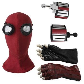 Örümcek adam Mezuniyet Maskesi Peter Benjamin Parker Cosplay Aksesuarları Kostüm Cadılar Bayramı Örümcek-adam Web Atıcı Eldiven Sahne