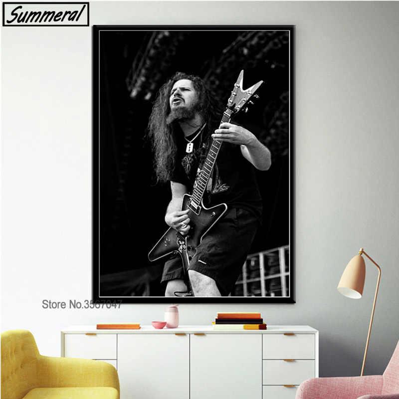 Dimebag Darrell Rock Music Singer Poster Wall Art Canvas