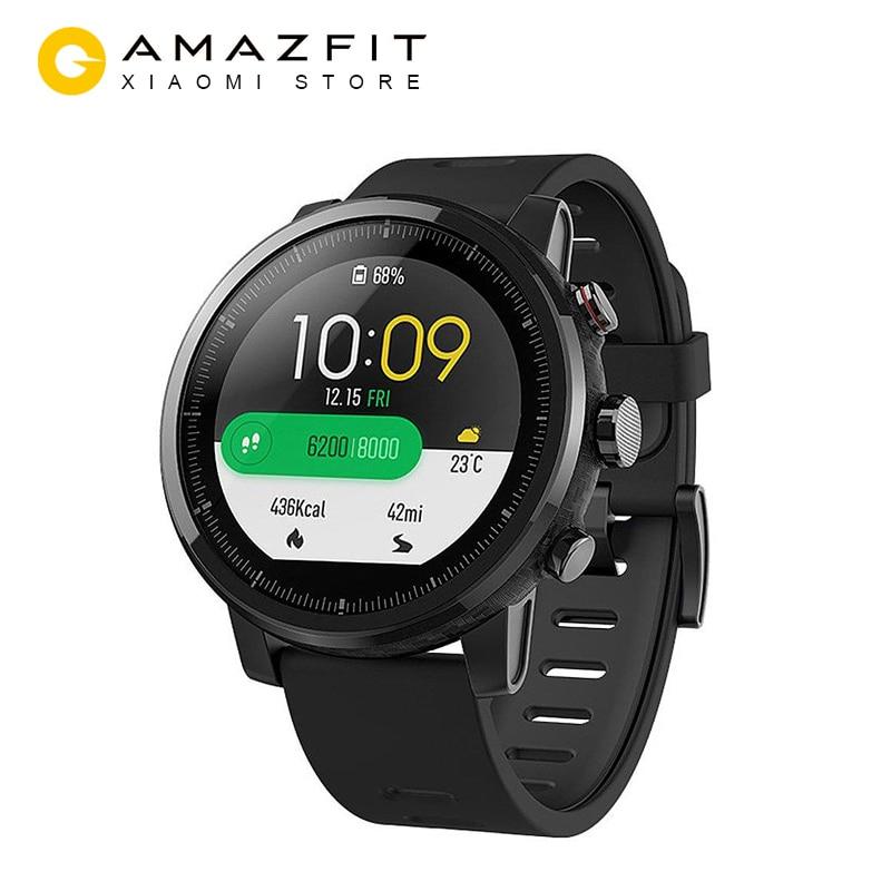 Versión inglesa Xiaomi Huami Amazfit Stratos Smart Sports Watch 2 GPS 5ATM agua 2.5D pantalla GPS Firstbeat natación Smartwatch