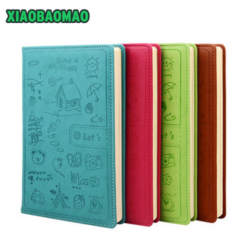 new maccaron color notebook a5 planner kawaii diy diary cute school office business horizontal line 120 pages notebooks gift