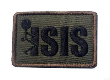 Śruba ISIS niewierny nieludzkie doktryny haft magiczne naklejki Hook amp Loop opaska na ramię plakietka na plecak Patch tanie i dobre opinie Odzież akcesoria Europejski i amerykański styl Bawełna PAPER BAG Zwykły haft krzyżykowy haft other