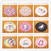 High Quality Unicorn Carpets Round Rugs Living Room Doormat Cartoon Carpets Door Floor Mat for Bedroom Fornasetti Carpet