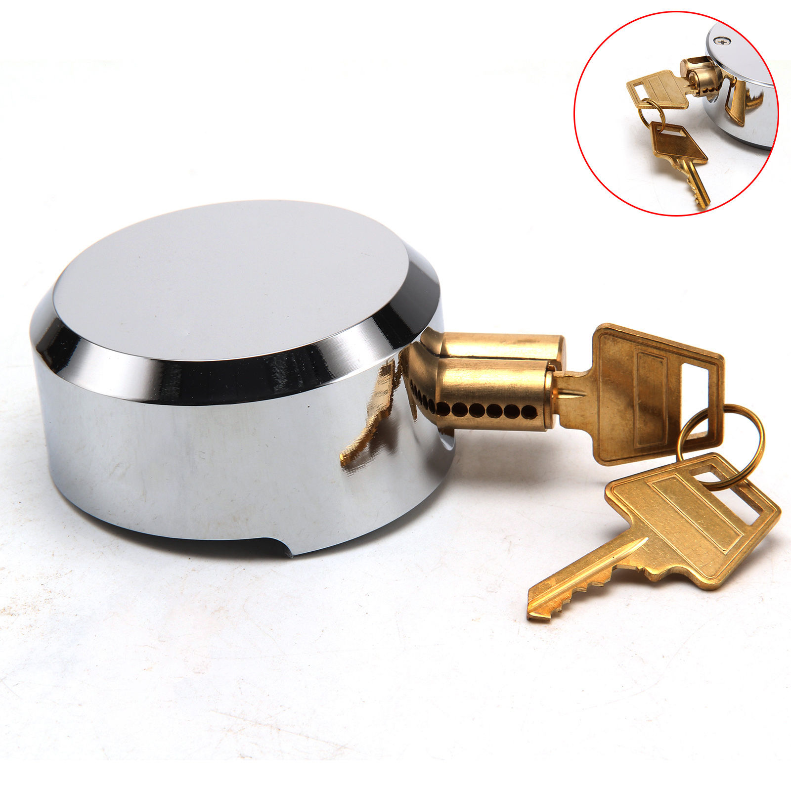 Heavy Duty 73mm Round Concealed Padlock Shutter Gate Door Van Replacement Lock
