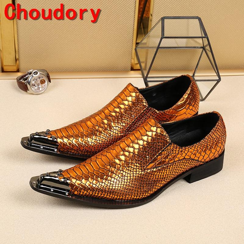 Ferro Picture Couro Hombre Deslizamento De Sociais Em Para As Homens Sapato Pointy Loafers Luxo Zapatos Os Pele Picture Oxford Crocodilo as Sapatos OwYtWFtqH