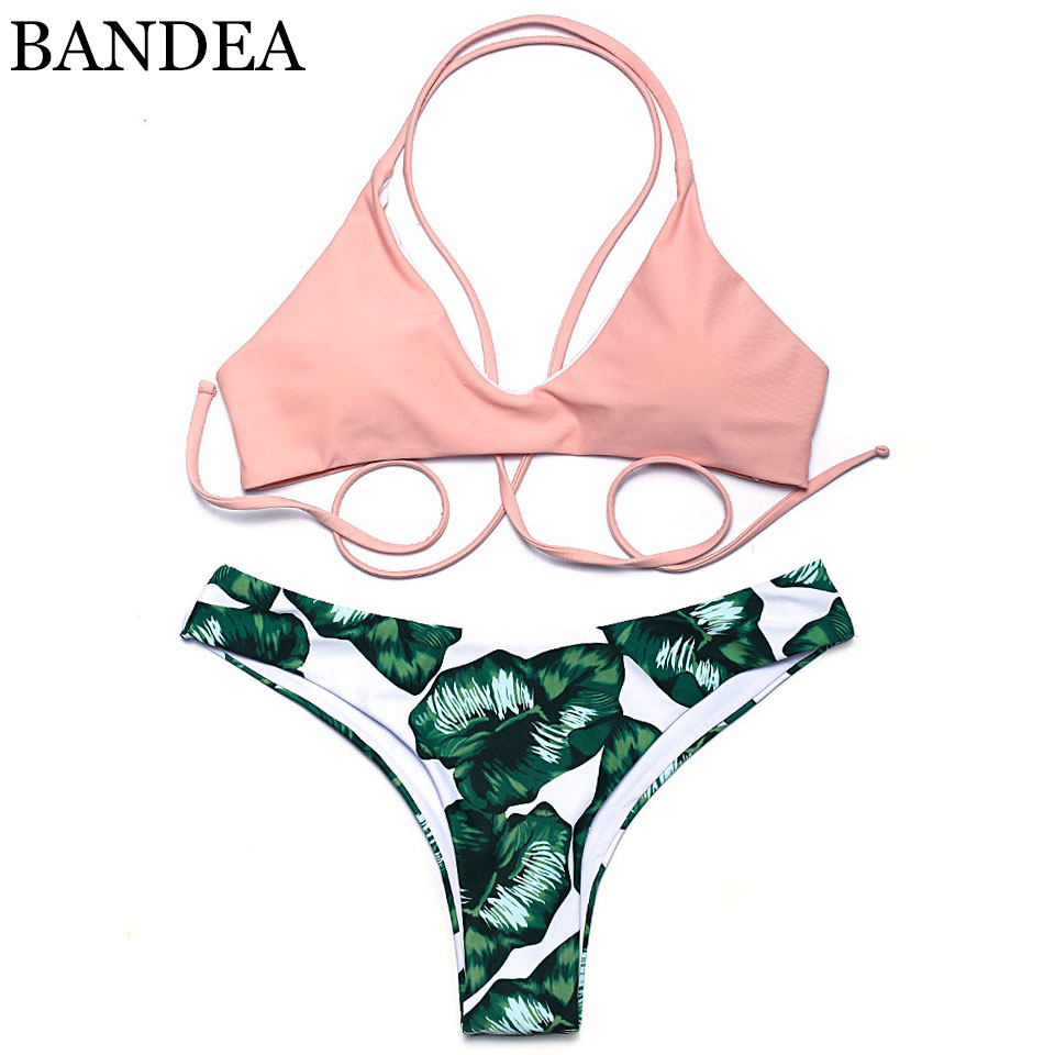 505aed9b1242 BANDEA 2018 D été Maillots De Bain Biquini Femmes Sexy Plage Maillot de  Bain Maillot de bain Push up Bas Brésilien Maillot De Bain Bikini