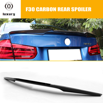 M4 Style Carbon Fiber Rear Boot Wing Lip Spoiler for BMW F30 3 Series 320 328 335 & F80 M3 2012 UP image