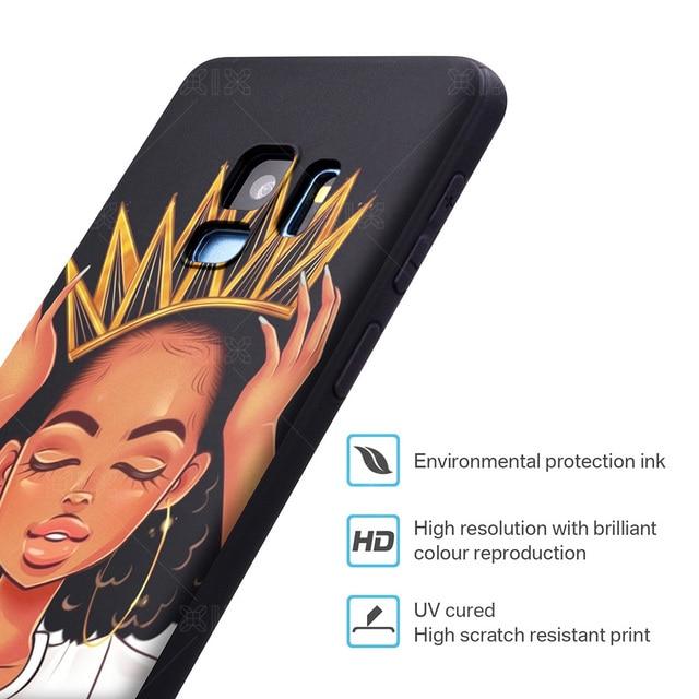 ORAN protection souple TPU pour Samsung Galaxy S8 Cas Filles Africaines pour Samsung S7 Bord Cas Nouveautés pour Samsung Galaxy s8 S9 Plus cas 1