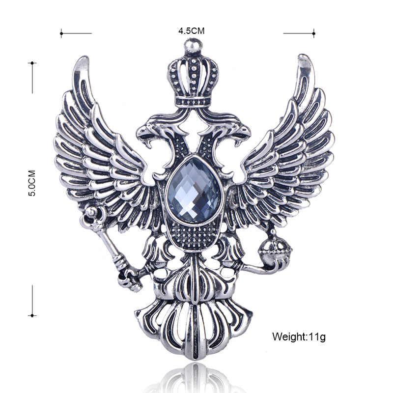 FUNMOR винтажная русская национальная эмблема в форме броши античные Стразы золотистого цвета брошь женские мужские подарочные сувениры нагрудные булавки