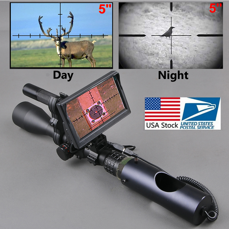 Night Vision Riflescope Outdoor Hunting Scopes Optics Sight Tactical Digital Infrared With Battery Monitor and Flashlight Кубок