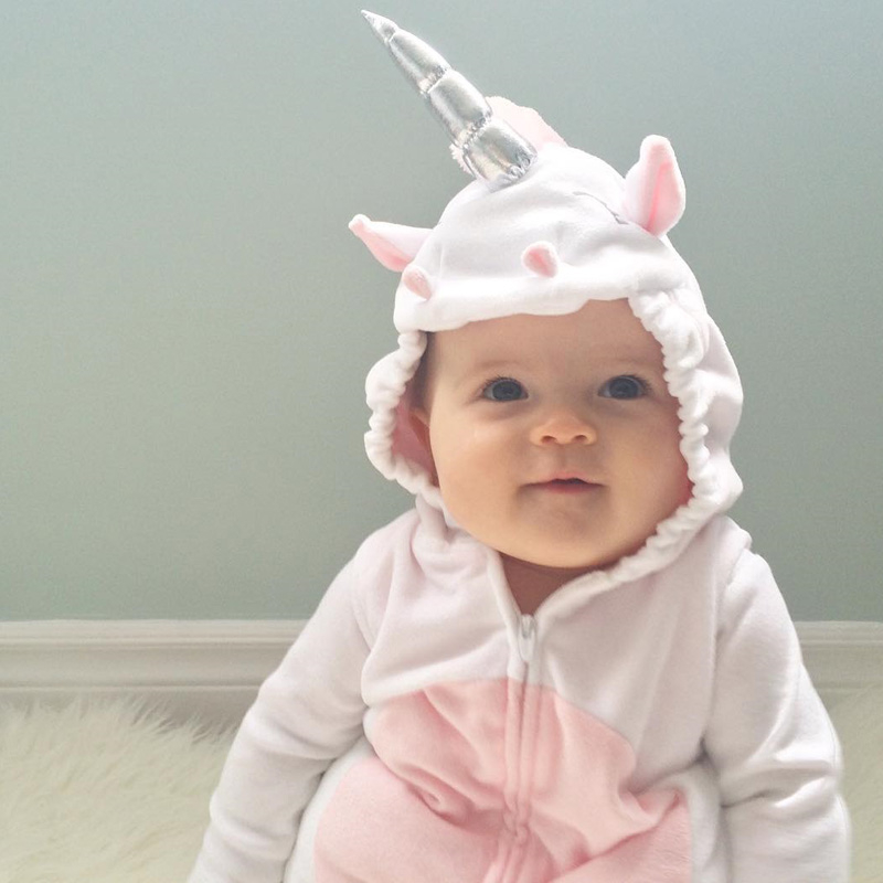 c0f939024 Aliexpress.com   Buy 3D Unicorn Baby Costume Girls Romper Zipper ...