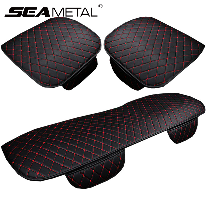 Car-Seat-Covers-Set Chair-Pad-Cars Back-Protect-Cushion Automobile Universal PU Front