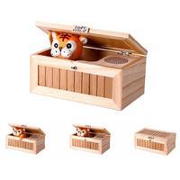 Holz Nutzlos Elektronische Box Nette Tiger Lustige Spielzeug Upgrade Holz Elektronische Nutzlos Feld mit Sound holzspielzeug für kinder