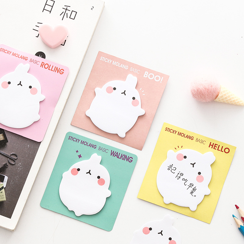 Korea Cute Creative Bunny Convenience Sticker Note Repeatedly Posted Tearable Sticky Notes