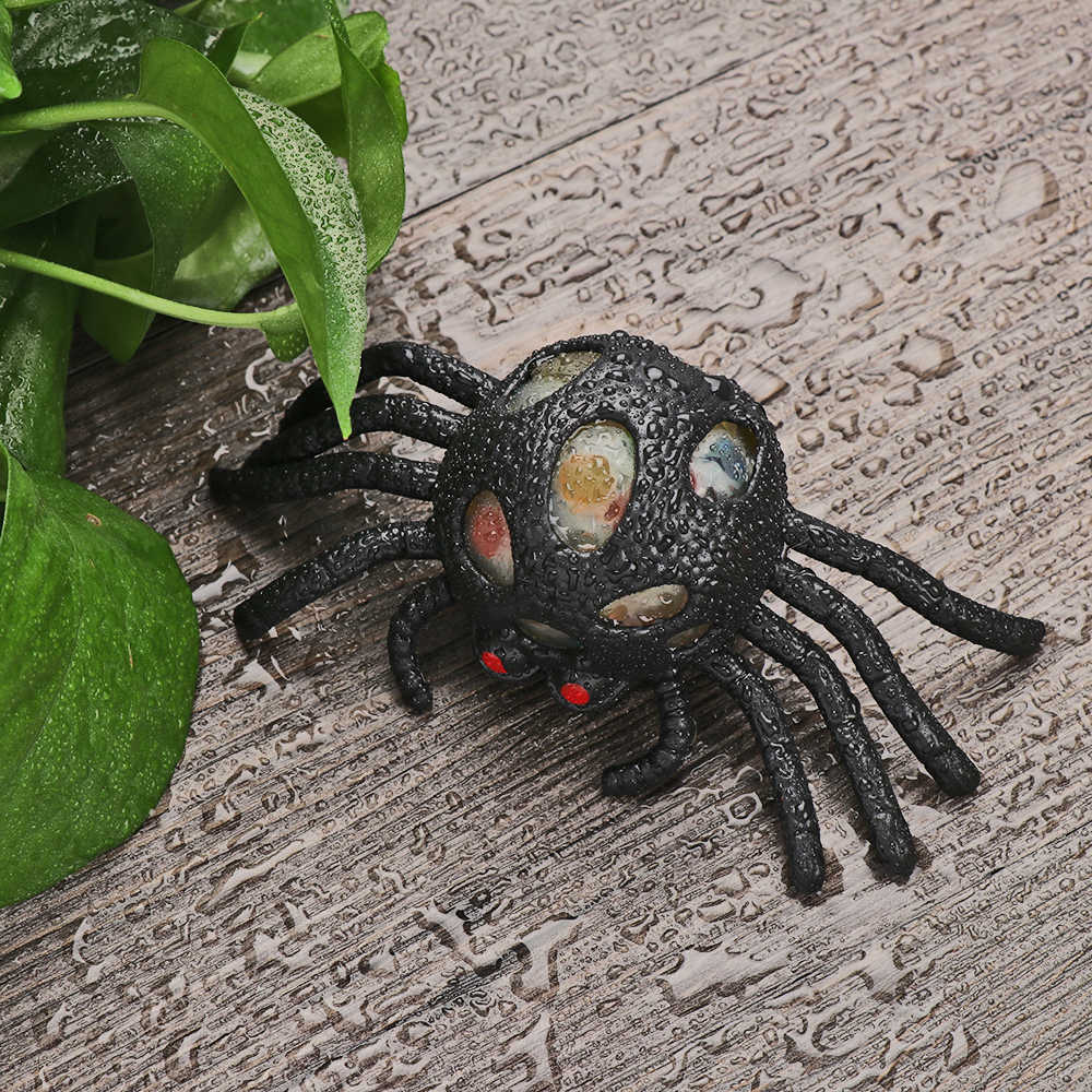 Warna-warni Manik Gel Penuh Transparan Katak Spider Antistress Ball Hari All Saints & #39; Mainan Anak-anak Autisme Squeeze Sensorik Baru Mainan