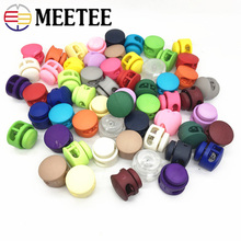 Meetee 25pcs 6mm Multi-Colors Plastic Stopper Hat Elastic Adjustment Buckle Jacket Fixed Rope DIY Shoelace Accessoy BD429