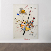 Pure Handpainted Large Size Wassily Kandinsky Oil Painting Canvas Painting Hand painted AbstractGeometric diagram Picture