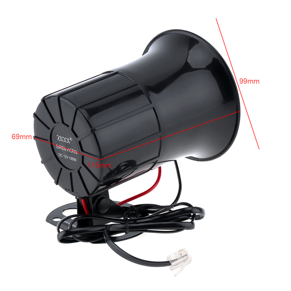 Image 2 - 6 Sound 100W Tone Loud Horn Motorcycle Auto Car Vehicle Truck Speaker Warning Alarm Siren Police Fire Ambulance Horn Loudspeaker-in Multi-tone & Claxon Horns from Automobiles & Motorcycles