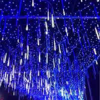 30/50CM Meteor Tube LED Meteor Shower Rain Tubes Christmas Decorative Lights LED Beautiful Wedding Party Garden String Light
