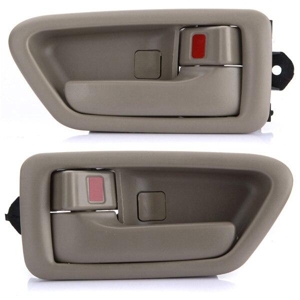 Пара загар внутри внутренняя дверные ручки для Toyota Camry 1997 1998 1999 2000 2001