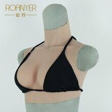 Roanyer New B cup Реалистичные силиконовые поддельные сиськи для трансвеститов Искусственные формы г