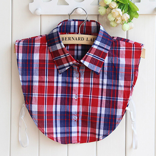 fashion Detachable denim fake shirt collar plaid new women lace half shirt false fake collar removable femme gift 19 Styles