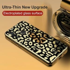 Image 2 - OTAO Plating Glass Leopard Print Case For Huawei P20 P30 Pro Mate 20 Lite Soft TPU Edge Cases Cover For Huawei Nova 4 3 3i Coque