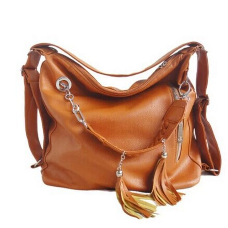 bolso mujer High quality PU female package dual fashion fringed chain shoulder women messenger bags large
