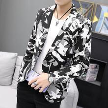 Camouflage Suit Jackets Wedding Suits for Men Clothes One Button Casual Men Blazer Slim fit New недорго, оригинальная цена
