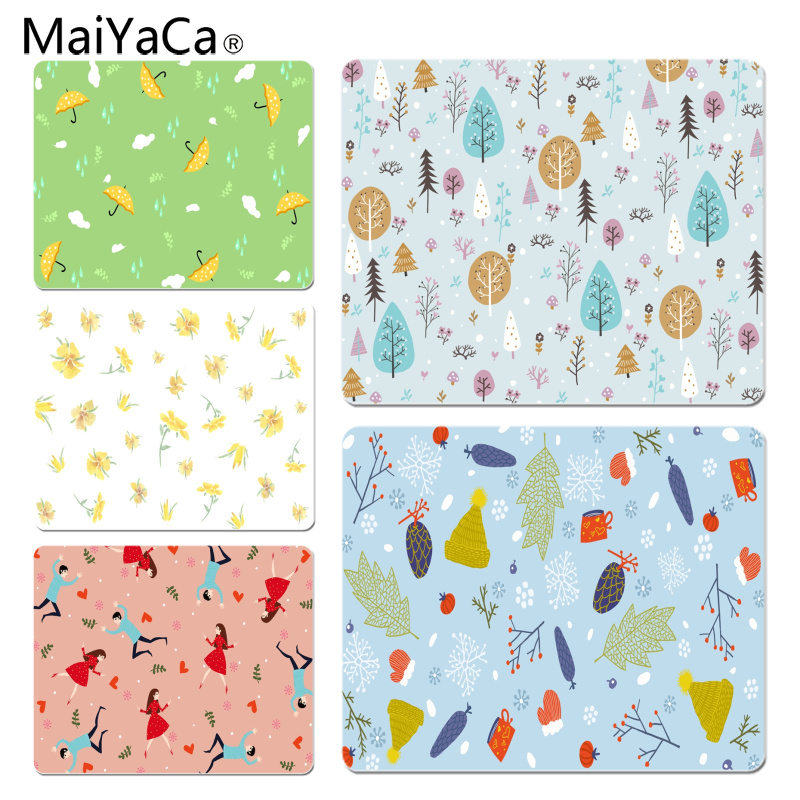 MaiYaCa Winter Cartoon Hand Drawn Customized laptop Gaming mouse pad Size for 18x22x0.2cm Gaming Mousepads