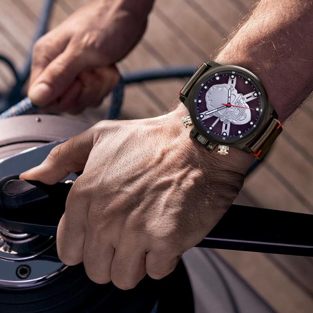Skull skeleton watch men sport mens relojes top brand luxury 2018 - Relojes para hombres - foto 5