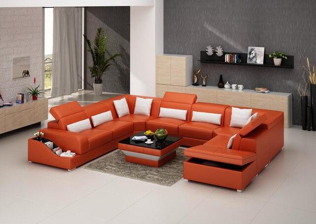 U vorm woonkamer bankstel G8008 met opslag functie in U-vorm ...