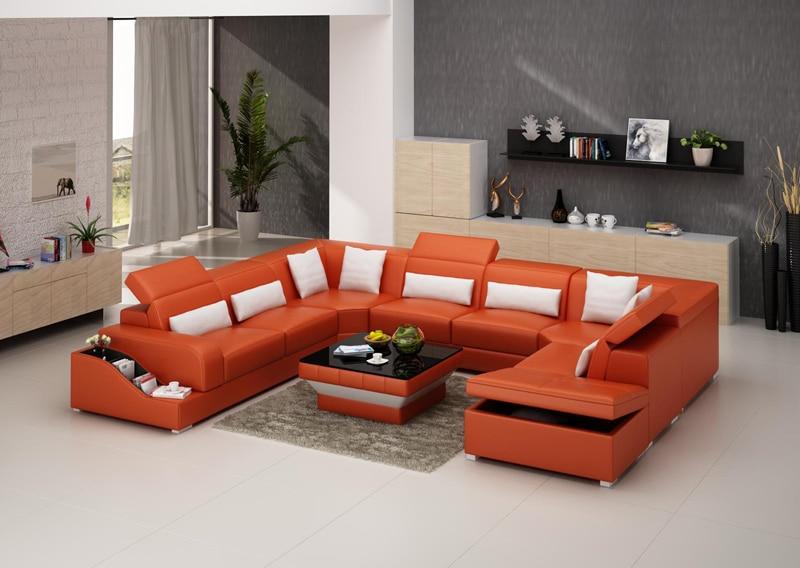 U vorm woonkamer sofa set G8008 met opslag functie in U-vorm ...