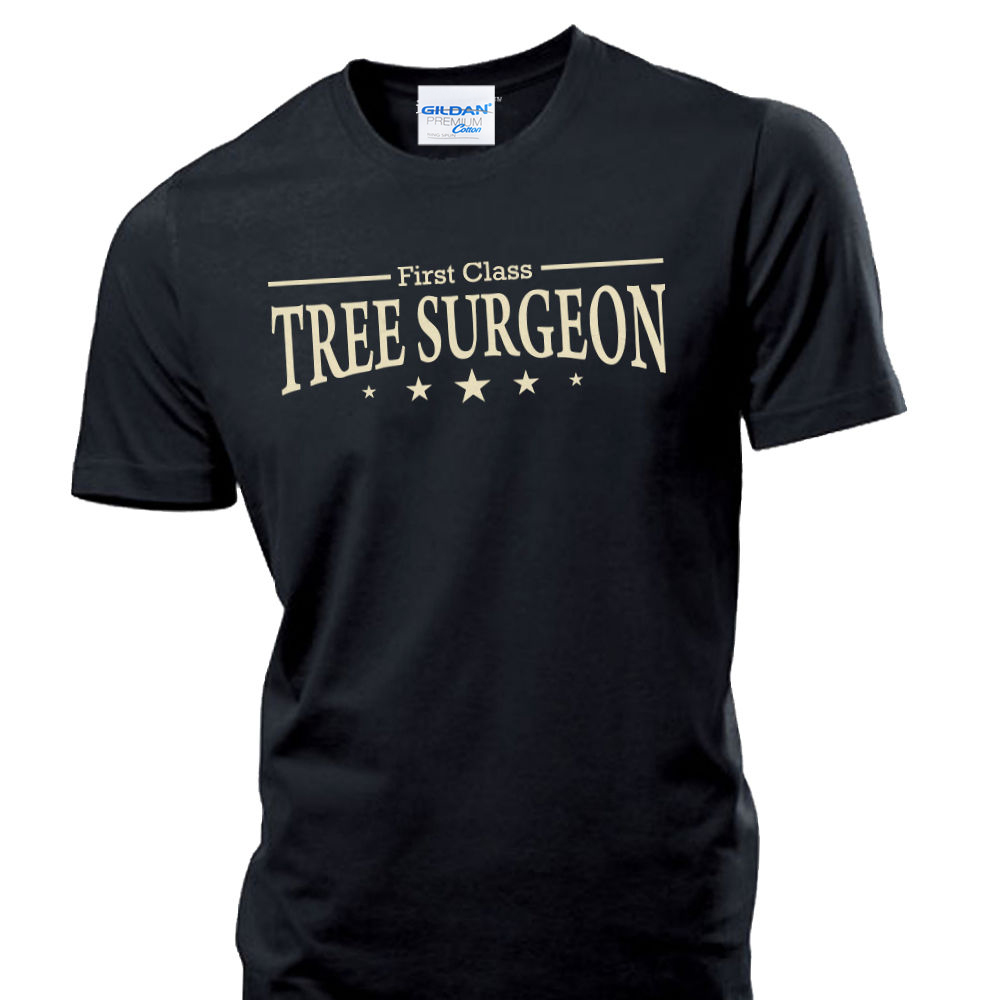 Design t shirt for class - Homme Brand Clothing For Men First Class Tree Surgeon Chain Saw Surgery Harness Design Men T