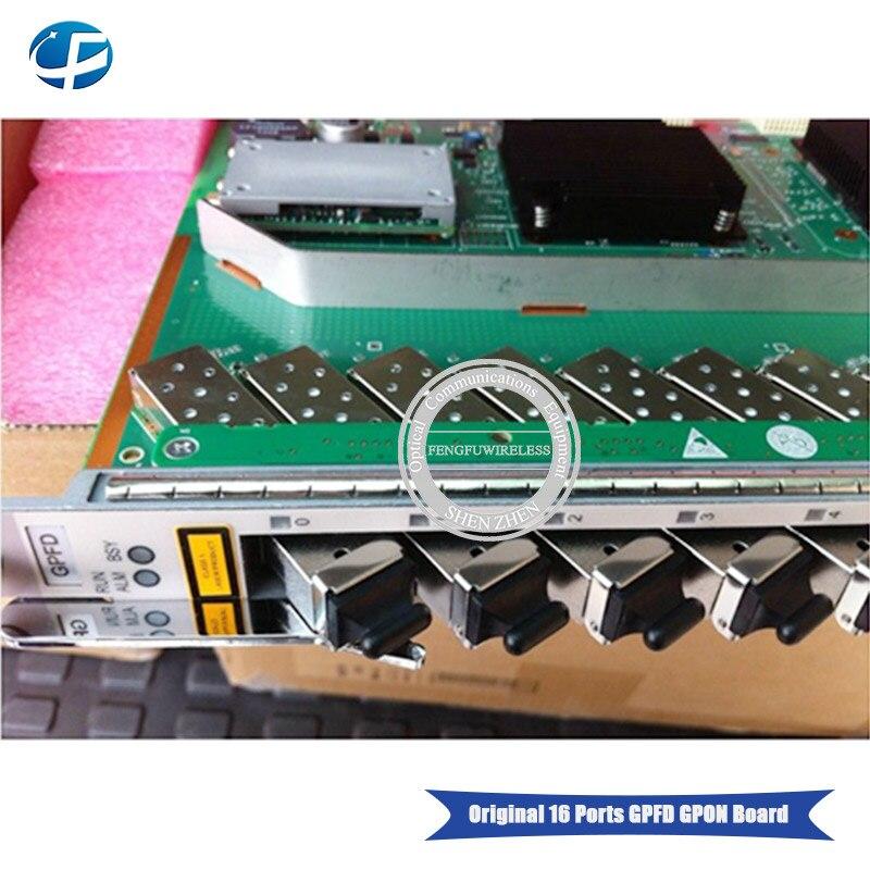 HW original 16 Ports GPFD B+ GPON business board with 16 SFP B+ modules,  Interface Board for MA5683T MA5603T MA5680T MA5608 OLT