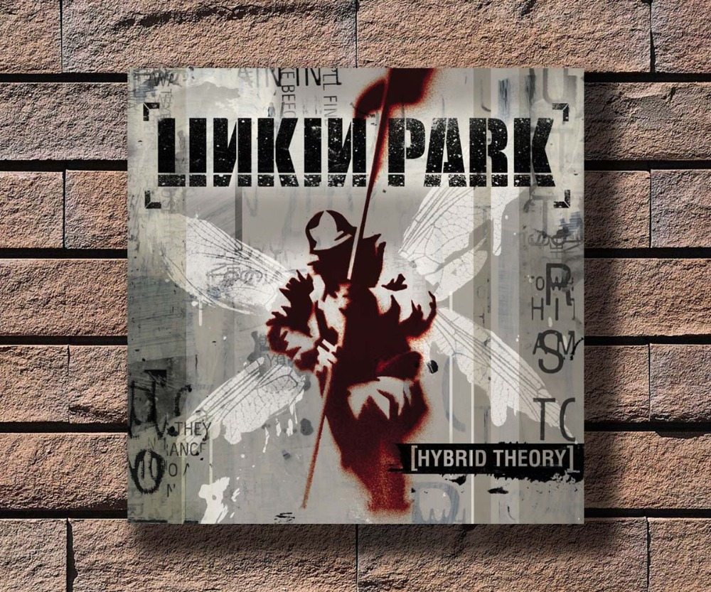 Us 2 72 9 Off Y454 Linkin Park Hybrid Theory Music Rapper Album Cover Hot Poster Art Canvas Print Decoration 16x16 24x24 27x27inch In Wall Stickers