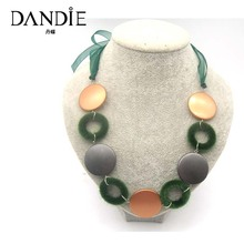 Dandie Fashion Simple Golden Green Necklace, Handmade Popular Necklace Jewelry For Women, 2017 New Arrival