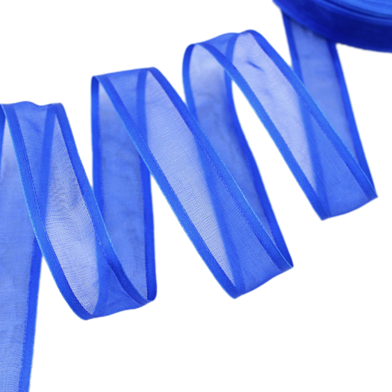 20 мм Королевский синий залп органза лентами оптовая продажа подарочной упаковки украшение ленты