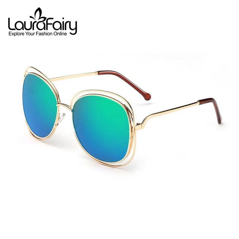 a1b6c4451 Laura Fadas Marca Designer 2016 Nova Grande Espelho Óculos De Sol Das  Mulheres Amantes quadrados UV400 Hippie Oco Para Fora Óculos de Sol oculos  de sol