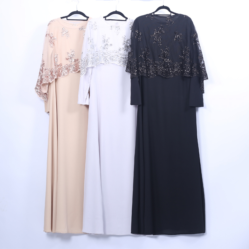 Sequin Abaya Dubai Muslim Hijab Dress Kaftan Abayas For Women Caftan Islamic Clothing Oman Jilbab Femme Musulman Turkish Dresses