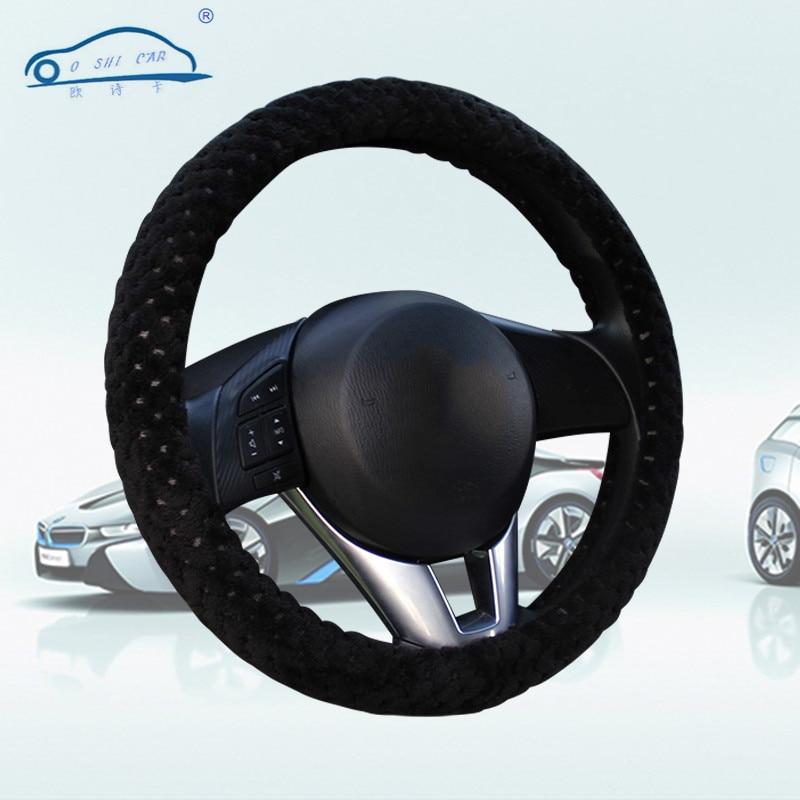 Cubierta del volante del coche de invierno de terciopelo de la perla - Accesorios de interior de coche - foto 6