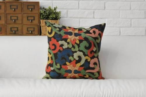 Ethnic Aztec Linen Cushions Cover Chinese Oriental Decorative Throw Pillows  Cases Vintage Floral Home Decor Lumbar Cushions Case In Cushion Cover From  Home ...