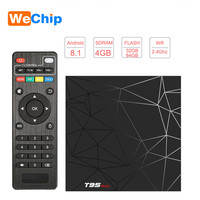 Wechip Android 8.1 TV Box Smart 4K 4G 64G Box T95 MAX Allwinner H6 2.4G Wifi Set Top Box 4G 32G H.265 6K HD T95 Ott Media Player