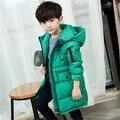 2016 детей больше хлопка-проложенный одежды детская одежда хан издание пальто большие дети долгая зима хлопка ватник