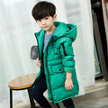 2016 children more cotton-padded clothes children's clothing han edition coat large children's long winter cotton-padded jacket