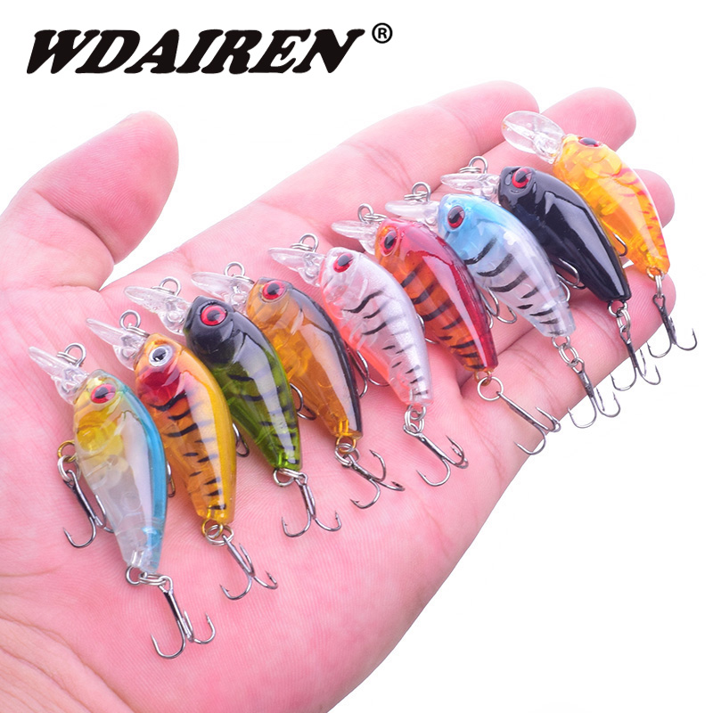 1Pcs 4.5cm 3.5g Fishing Lures Crank Swim wobblers bait fishing Artificial japan Hard Crazy Bass Crankbait fishing Tackle WD-551