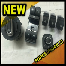 Chrome head light Mirror Window Switch VW Passat B6 Tiguan Jetta Golf MK5 MK6 CC 5ND941431B / 5ND959857 / 5ND959855 / 5ND959565A