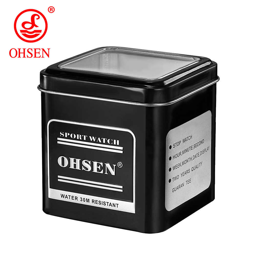 1PCS Original OHSEN Brand Watch Box Gift Box Factory Dropshipping Metal Box with OHSEN Logo Fashion Watch Gift Box