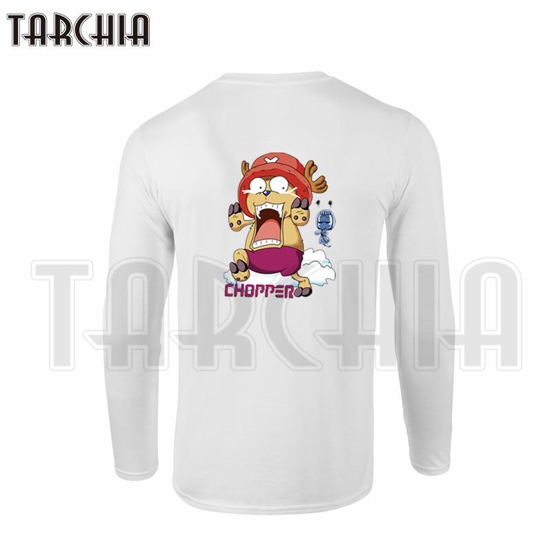 TARCHIA Double Print One Piece Tony Tony Chopper Colorful Men's Long Sleeve T-Shirt 100% Cotton Tee Plus Size Fashion man
